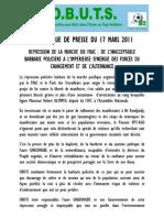 Cp Obuts Du 17 Mars 2011