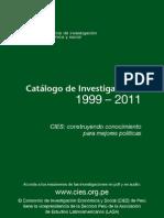 Catálogo de Investigaciones