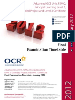 Ocr 55545 Admin Gce Jan 2012 Exam Timetable