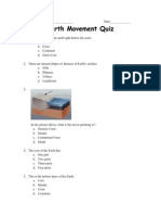 earth movement quiz