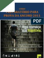 Preparatório para Prova da ANCORD XPE - Apostila setembro 2011