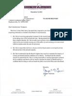 Sheriffs Letter