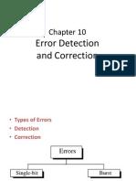 Chapter 10 Error Detection & Correctio