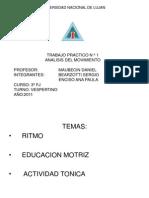 RITMO EDUCACION MOTRIZ