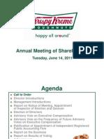 2011-06-14 Krispy Kreme - Presentation at AGM