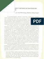 Presidencialismo y sistema de partidos en América Latina - Scott Mainwaring, Matthew Soberg Shugart