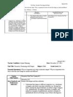 Summative Assessment Lesson Plan
