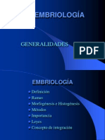 EMBRIOLOGÍA GENERALIDADES LEYES