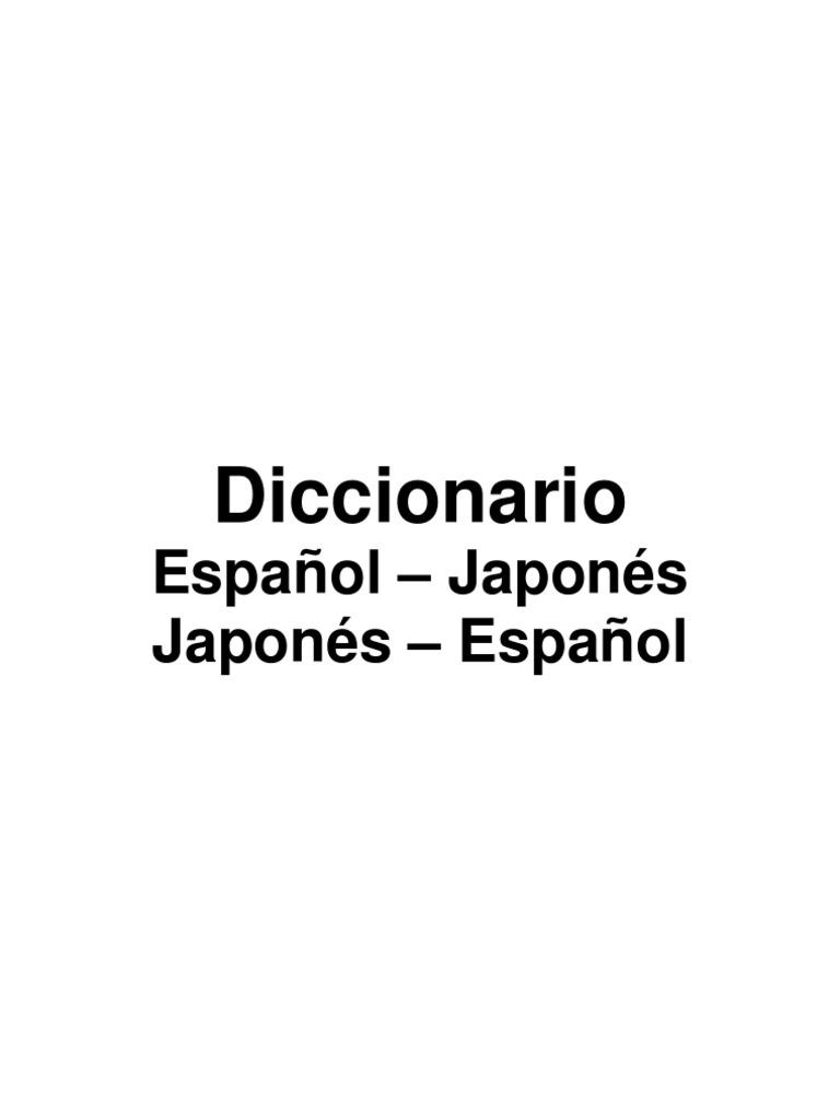 Diccionario Espanol-Japones Romaji