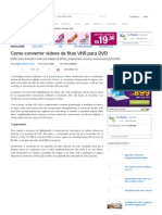 Como converter vídeos de fitas VHS para DVD