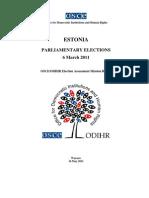 Estonia Voting Report