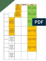 Horarios Carrera Profesional Derecho Presencial 2011-II