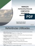 REMOÇÃO FOTOCATALÍTICA DE COMPOSTOS ORGÂNICOS VOLÁTEIS E NOx