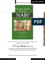 Beautiful Sunnats of Beloved Nabi Saw