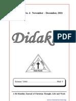 Didakhe - December, 2011