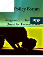 Bangsamoro History and Quest for Future Status