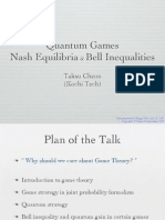 Taksu Cheon- Quantum Games Nash Equilibria & Bell Inequalities