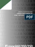 E-STUDIO 160 200 250 Operators Manual
