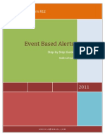Step by Step Guide to Event Based Alert