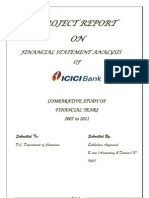 Financial statement analysis of ICICI bank