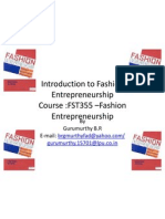Introduction to Fashion Entrepreneurship 1
