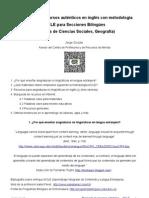 """""""Búsqueda de recursos auténticos en inglés  con metodología AICLE para Secciones Bilingües"""" (ejempos de Ciencias Sociales, Geografía)"""