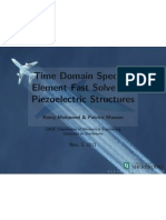 Spectral Element Fast Solver for Piezoelectric Structures