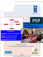 Détermination de l'indice de la société civile - Niveau d'organisation (PNUD, CIVICUS, MSIS, CNPC - 2011)