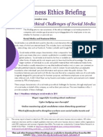 Ethical Challenges of Social Media
