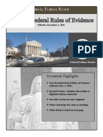 UPDATED Rules of Evidence (Dec 1st, 2011)