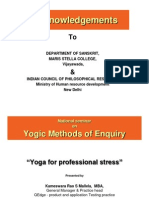Yoga for Professional Stress