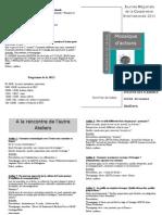 Programme Ateliers JRCI 2011
