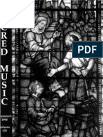 Sacred Music, 125.2, Summer 1998; The Journal of the Church Music Association of America