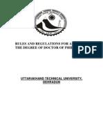 PhD Regulations New