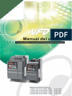 Manual Variador de Velocidad VFD-EL