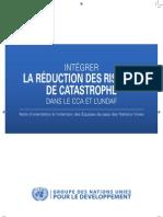 Intégrer la réduction des risques de catastrophe dans le CCA et l'UNDAF - Note d'orientation (UN - 2009)