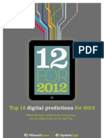 12 Digital Predictions for 2012 Millward-Brown