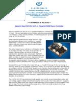 Maxon ESCON 36-2 New Product Press Release