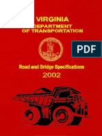 Virginia DOT - Road and Bridge Specifications 2002