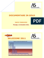 Documentare in GOLD