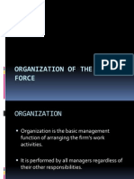 Organization of the Sales Force