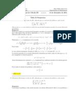 Examen Final Cálculo III, 13 de diciembre de 2011