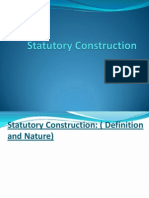 Statutory Construction 1