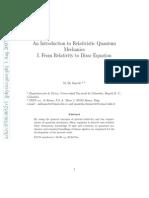 0708.0052v1An Introduction to Relativistic Quantum Mechanics