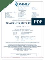 Luncheon for Mitt Romney