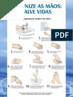 Higienize as mãos