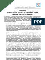Pronunciamiento VII SRA_Comité Sindical Andino CCLA 23-25, Noviembre 2011