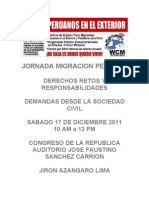 JORNADA MIGRACION PERUANA