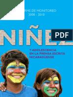 informe de monitoreo 2008-2010 Niñez y Adolescencia en la prensa escrita nicaragüense