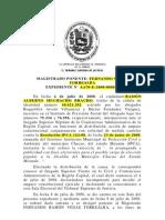 Sentencia de Ramon Muchacho